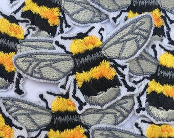 Cute Fat Bumblebee Iron on Patch
