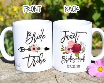Bridesmaid Gifts,Bride Tribe,Bridesmaid proposal,Bridesmaid Party Favor,Personalized Mug,Wedding Mug,Bachelorette favor,custom mug WD-BM-003