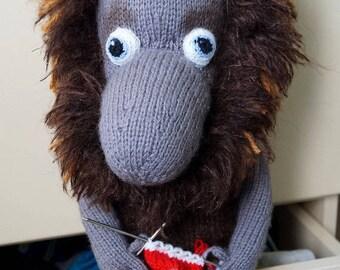 Stuffed Toy Boggart  Knitted Toy Boggart  Nafanya The Boggart Toy Boggart