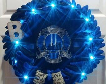 The Blue Line Wreath