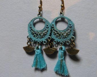 Vintage & fan earrings