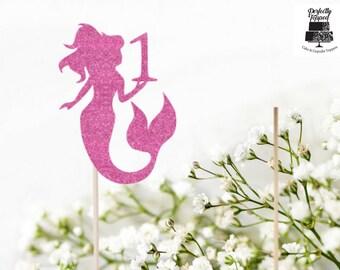 Mermaid Cake Topper - Mermaid Topper - Mermaid Decor - Birthday Cake Topper