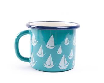 BiggDesignAnemoSS Orsa Enamel Mug - Turquoise