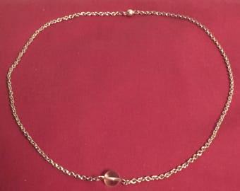 Citrin chain pendant