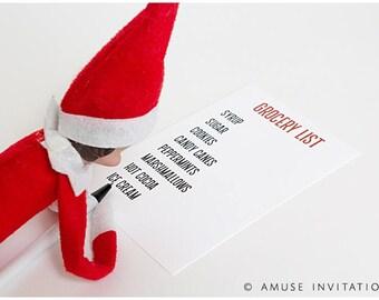 Elf Makes Grocery List, Naughty Elf Idea, Christmas Elf Accessories, Santa's Elf Prop, Elf Printable, Christmas Elf Ideas, Easy Elf Ideas