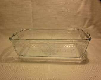 Vintage Fire King Philbe Sapphire loaf pan
