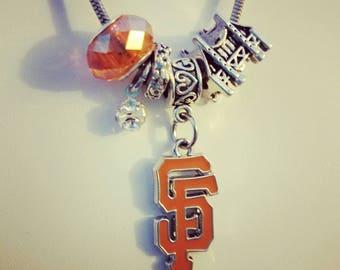 San Francisco Giants European Pandora Style Charm Necklace