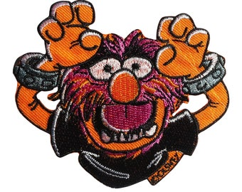 Patch / patch - The Muppets Animal Disney cartoon children - orange - 8, 6 x 7, 3 cm - patch application applications to the iron application patches patch