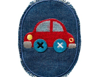 Patch/ironing-kids jeans patch auto-red-10.2 x 7.5 cm-by catch-the-Patch ® patch appliqué applications for ironing application patches patch