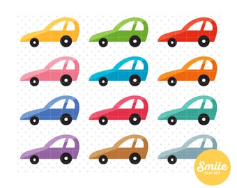 Retro Car Clipart for Commercial Use - C0213