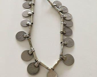 Tribal Vintage Banjara Indian Rupee Coin necklace necklace belt belt belt Bohemian Gypsy Ibiza Style