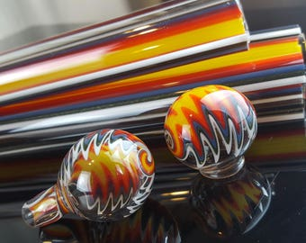 Vac stack - Fire Fade to Clear  - Borosilicate glass tubing