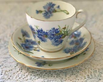 Adderley Cornflower Tea Trio
