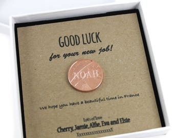 Personalised Lucky Penny Good Luck Coin Gift,  Unique Keepsake Gift, Lucky Penny Gift