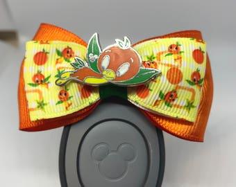 Orange Bird Magic Band Bow