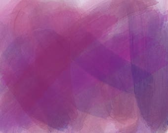 Watercolour in Dark Purples and Reds on Canvas - Background 10