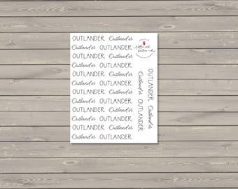 Outlander Script Stickers