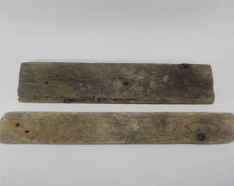 2 Flat Driftwood 18.7-22''/47-56cm, Old Looking Flat Driftwood Pieces - Craft Wood - Natural Driftwood Signs #14B