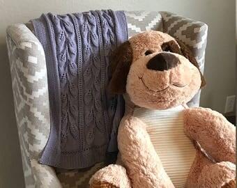 Lavender Leaves Baby Blanket