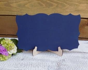 Navy Blue Chalkboard Sign for Wedding Signs or Photo Props Frameless Chalkboard Reception Blackboard with Stand Navy Blue Wedding Chalkboard