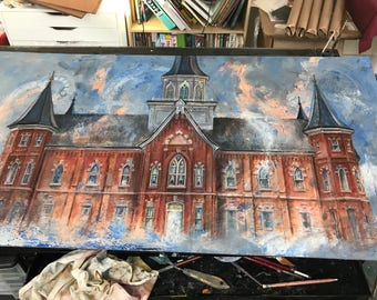 LDS Temples Custom Painting of Your Choice. ORIGINAL Art.