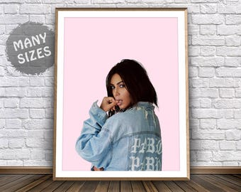 Kim Kardashian Poster Kim Kardashian Print Life of Pablo Poster I Feel Like Pablo Kanye West Kim Kardashian Inspired Celebrity Fashion Print
