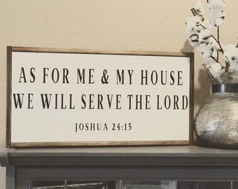 1x2 As For Me and My House sign, Fixer Upper, spiritual, Christian sign, verse, farmhouse decor, farmhouse, rustic