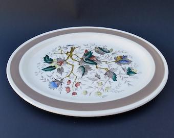 Wood & Sons Brown Oval Serving Platter ~ Jamestown Pattern ~ Burslem, England