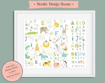 Nursery Wall Art, Alphabet Print, Alphabet Nursery Prints, Alphabet Poster, Nursery Prints, Nursery Art, Nursery Wall Art Prints, Nursery