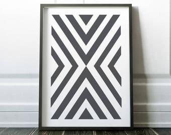 Wall Art Print, Geometric Wall Art, Prints, Scandi Wall Art, Minimalist, Wall Art,Digital Print, Modern Art, Scandinavian Print, Art Print