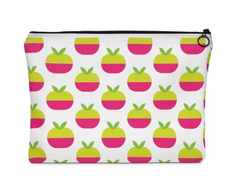 Apple Pattern Carry All Pouch  Flat