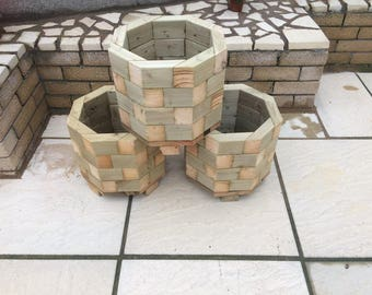 Octagon Planters Small Plants Shrubs