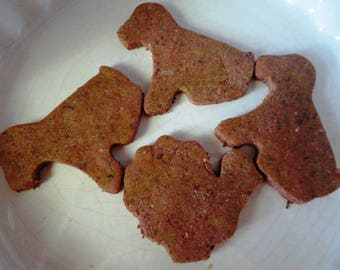 Large Grain-Free Dog Biscuits, Vegan Dog Biscuits, Homemade Dog Cookies, Red Roger Large Canine Cookies, Organic Dog Treats,4 Per Bag