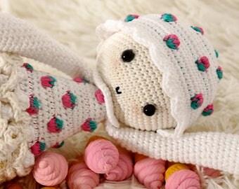 AMIGURUMI PATTERN. Baby Gummy Strawberry ice cream. Patrón de crochet / crochet pattern / amigurumi
