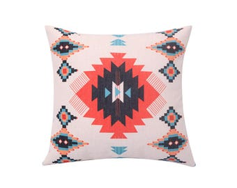Aztec decorative pillow cover Tribal throw pillow covers Ethnic pillow case Geometric cushion case Navajo pillow cases Home decor gift 18x18