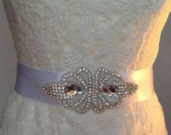 Wedding dress belt, Bridal dress belt, Wedding Belt. Wedding dress sash, Bridal belt,Rhinestone belt, Wedding dress