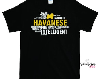 Havanese Dog Characteristics T-shirt - Gift For Havanese Owners - Gift For Him