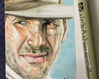 Indiana Jones sketch card