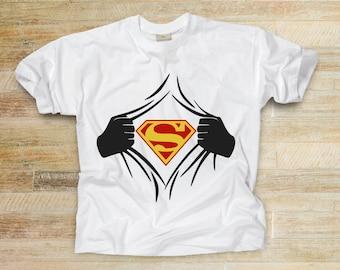 Superman Shirt, Superhero Shirt, Birthday Gift, Christmas Gift