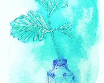 Green Botanical Wall Art Prints / Leafy Greens / Greenery / Jungalow Art Prints / Modern Home Decor / minnie&lou Archival Fine Art Prints