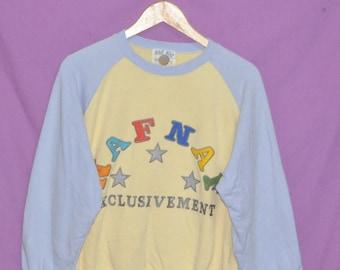 Vintage 90s NAF NAF Multi Color  Sweatshirt Sweater Crewneck Pullover Jacket Large Size