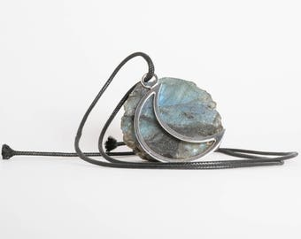 Goddess Within Cresent Moon Necklace