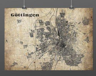 Göttingen DIN A4 / DIN A3 - print - turquoise