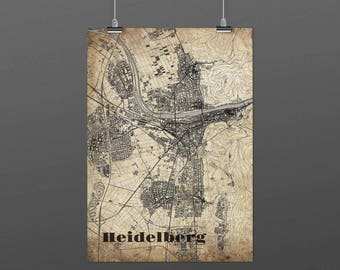 Heidelberg DIN A4 / DIN A3 - print - turquoise