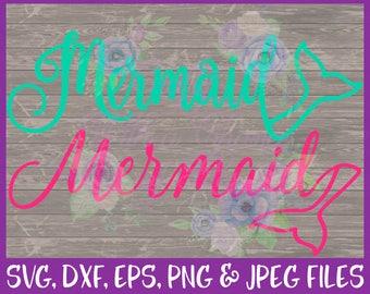 Mermaid SVG Mermaid Word With Tail SVG Mermaid Tail Svg Be A Mermaid SVG Beach Svg Summer Svg Ocean Svg Eps Png Dxf Jpg Digital Download