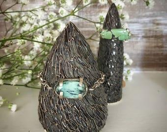handmade, chunky turquoise silver bracelet