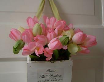 Shabby chic hanging tulips