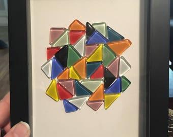 Colourful glass modaic