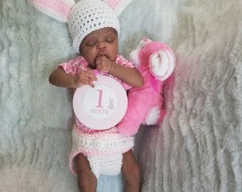 Girls/Boys' Newborn Easter Prop/Bunny Hat/Diaper Cover