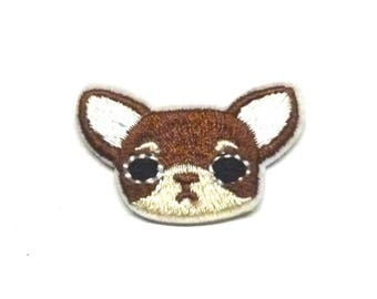 Chihuahua Patch, Chihuahua Iron on Patch, Chihuahua Appliqué, Dog Patch, Dog Appliqué, Dog Iron on Patch - H1353